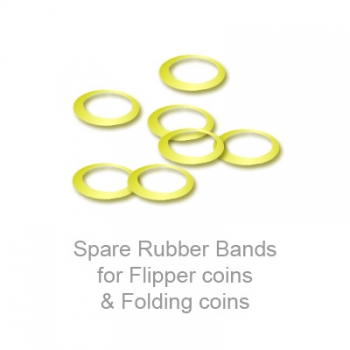 Spare Rubber Bands for Flipper coins & Folding coins